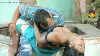 கிராமத்தில் பெரிய மாமா பையன் வீட்டு தோட்டத்தில் வெளியில் செக்ஸ்